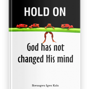 Hold on God has not changed his mind, ebook, ikwuagwu igwe kalu,